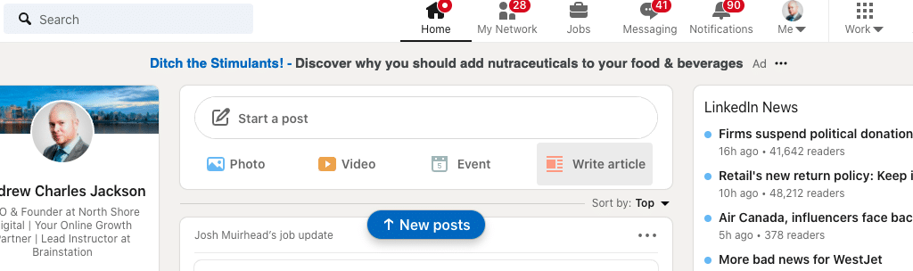 Write an article on LinkedIn Pulse