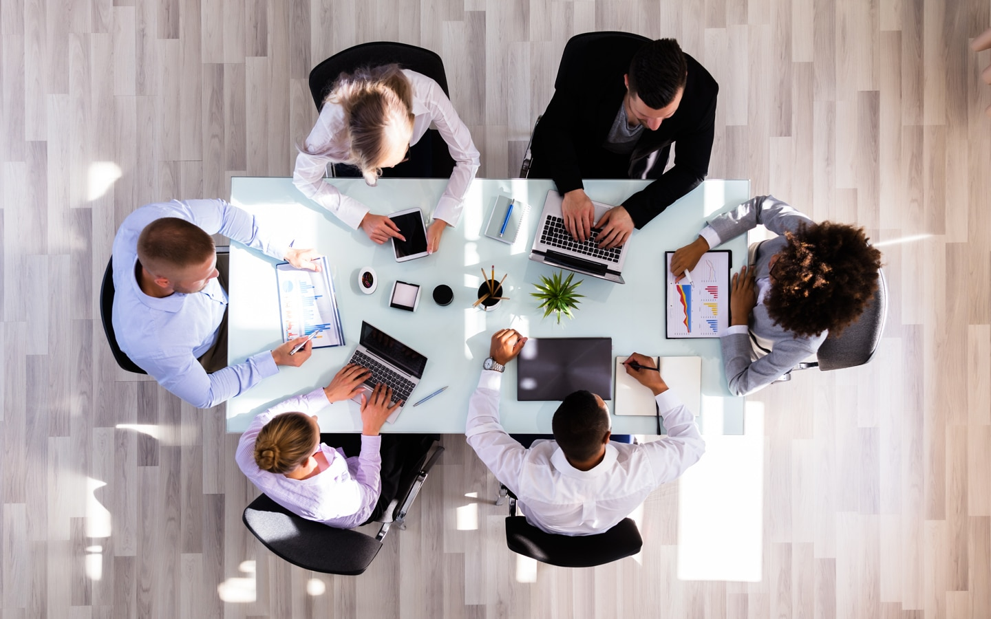 business professionals working together