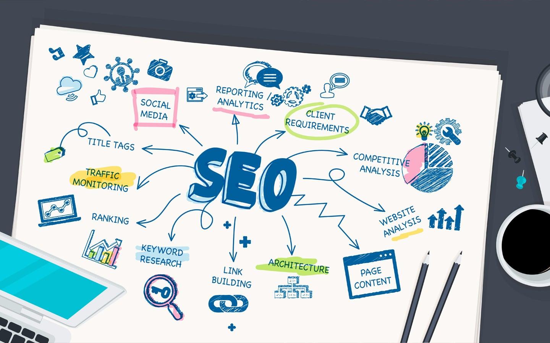 search engine optimization info illustration